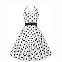 preiswerte Unterröcke für Hochzeitskleider-Damen Ausgehen Retro A-Linie Kleid Punkt Knielang Halter / Sommer
