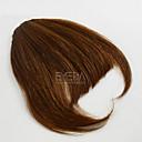hesapli At Kuyrukları-Açık Kahverengi Koyu Kahverengi Düz Kaküller saçak 0.03kg Gerçek Saç Saç Parçası Ek saç Düz