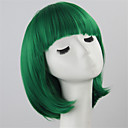 cheap Synthetic Capless Wigs-Synthetic Wig Straight Bob Haircut Synthetic Hair Green Wig Women's Short Capless Green