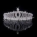 cheap Wedding Shoes-Women's Girls' Bridal Wedding Silver Plated Alloy Crown