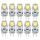billige Bursdagdekor-3 W 300-350 lm G4 LED-lamper med G-sokkel T 1 LED perler COB Vanntett / Dekorativ Varm hvit / Kjølig hvit / Naturlig hvit 12 V / 10 stk. / RoHs / CE