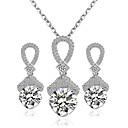 preiswerte Modische Halsketten-Damen Schmuck-Set - Einschließen Braut-Schmuck-Sets Silber Für Hochzeit / Party