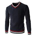 זול עגילי גברים-צמר פסים - סוודר ספורט בגדי ריקוד גברים