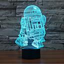 voordelige Originele verlichting-robot touch dimmen 3d led-nachtlampje 7colorful decoratie sfeerlamp nieuwigheid verlichting licht
