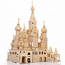 cheap Wooden Puzzles-3D Puzzle Jigsaw Puzzle Wooden Puzzle Castle Famous buildings DIY Simulation Wooden 1 pcs Kid's Adults' Boys' Girls' Toy Gift / Wooden Model