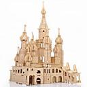 olcso Modellek és modellkészletek-Saint Petersburg 3D építőjátékok Fejtörő Fából készült építőjátékok Wood Model Modeli i makete Kastély Népszerű épület Építészet 3D