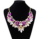 cheap Jewelry Sets-Women's Choker Necklace - Imitation Diamond Drop Fashion White, Purple, Red Necklace Jewelry For Wedding, Party
