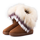 cheap Bracelet Watches-Women's Shoes Leatherette Fall / Winter Snow Boots Boots Flat Heel Pom-pom Brown / Blue / Pink