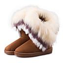 halpa Naisten saappaat-Naisten Kengät Tekonahka Syksy / Talvi Talvisaappaat Bootsit Tasapohja POM-POM Ruskea / Sininen / Pinkki