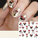 voordelige Nagelstrass & Decoraties-1 pcs Klassiek Wateroverdracht Sticker Nail Art Design Dagelijks