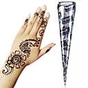 preiswerte Temporäre Farben-1 pcs Henna Kegel Temporary Tattoos Non Toxic / Große Größe / Stamm Körperkunst Gesicht / Hände