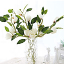 cheap Pressed Powders-Artificial Flowers 1 Branch Modern Style Magnolia Tabletop Flower