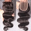 cheap Closure & Frontal-100% Hand Tied Body Wave Free Part / Middle Part / 3 Part Swiss Lace Human Hair