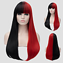 cheap Synthetic Capless Wigs-Synthetic Wig Straight Style Capless Wig Red Black / Red Synthetic Hair Women's Red Wig Long Capless Wig