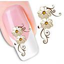 baratos Adesivos de Unhas-1 pcs Autocolantes de Unhas 3D Jóias de Unhas arte de unha Manicure e pedicure Clássico Diário / PVC / Jóias de unha / Etiquetas de unhas 3D