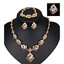abordables Collares-Mujer Cristal Cadena de enlace Conjunto de joyas - Cristal Vintage, Moda, Importante Incluir Oro Rosa Para Boda / Fiesta / Anillos / Pendientes / Collare / Pulsera