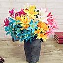halpa Joulu kynsien taide-Keinotekoinen Flowers 1 haara Moderni tyyli Liljat Pöytäkukka