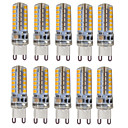 cheap LED Bi-pin Lights-HKV 10pcs 3 300-350 lm G9 LED Bi-pin Lights T 48 leds SMD 2835 Waterproof Decorative Warm White Cold White Natural White AC 110-130V AC