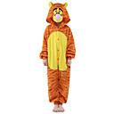 ieftine Pijamale Kigurumi-Pijama Kigurumi Tigru Pijama Întreagă Costume Mink catifea Portocaliu Cosplay Pentru Pentru copii Sleepwear Pentru Animale Desen animat