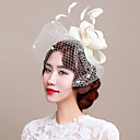 cheap Party Headpieces-Tulle / Flax / Feather Fascinators / Birdcage Veils 1 Wedding / Special Occasion Headpiece