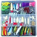 cheap Fishing Lures & Flies-131 pcs Fishing Lures Hard Bait / Soft Bait / Jigs Soft Plastic / Hard Plastic / Plastic Multifunction Sea Fishing / Bait Casting / Ice Fishing / Spinning / Jigging Fishing / Freshwater Fishing