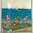 baratos Películas e Adesivos de Janela-Animal Moderna Película para Vidros, PVC/Vinil Material Decoração de janela Sala de Jantar Quarto Escritório Quarto das Crianças Sala de