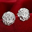 preiswerte Modische Armbänder-Damen Ohrstecker Ohrring - Sterling Silber Rosen, Blume Personalisiert, Modisch Silber Für Hochzeit Party Alltag