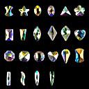 hesapli Tırnak Takısı-10pcs tırnak sanat düz birçok yönleri özel şekilli elmas ab iridescence çivi isteğe bağlı 10 tarzı shanzuan