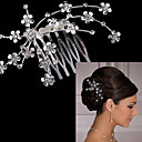 cheap Party Headpieces-Alloy Hair Combs with 1 Wedding / Special Occasion Headpiece