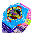 cheap Sport Watches-SANDA Men's Sport Watch / Digital Watch Alarm / Calendar / date / day / Water Resistant / Water Proof Rubber Band Camouflage / Luminous / LCD / Dual Time Zones / Stopwatch / Two Years
