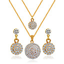 cheap Jewelry Sets-Women's Jewelry Set - Include Bridal Jewelry Sets Golden For Wedding
