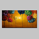 cheap Stretched Canvas Prints-Oil Painting Hand Painted - Floral / Botanical Modern Canvas