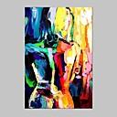 billige Abstrakte malerier-Håndmalte Abstrakte Portrett Vertikal,Moderne Europeisk Stil Et Panel Lerret Hang malte oljemaleri For Hjem Dekor