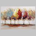 billige Abstrakte malerier-Hang malte oljemaleri Håndmalte - Abstrakte Landskap Moderne Lerret