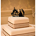 cheap Cake Toppers-Cake Topper Classic Theme Classic Couple Acrylic Wedding with Flower 1 Gift Box