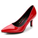 cheap Women's Heels-Women's Shoes Rubber Spring / Fall Basic Pump Heels Stiletto Heel Black / Red