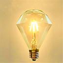 abordables Bombillas LED Inteligentes-1pc 4 W 350 lm E26 / E27 Bombillas de Filamento LED G95 4 Cuentas LED COB Decorativa Blanco Cálido 220-240 V / 1 pieza / Cañas