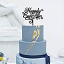 preiswerte Tortenfiguren & Dekoration-Tortenfiguren & Dekoration Klassisch Klassisches Paar Acryl Hochzeit mit Blume 1pcs Geschenkbox