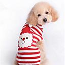 voordelige Hondenkleding-Kat Hond Truien Hondenkleding Gestreept Rood Wollen Kostuum Voor huisdieren Heren Dames Schattig Nieuwjaar Kerstmis