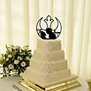 baratos Adesivos de Parede-Decorações de Bolo Tema Clássico Casal Clássico Acrílico Casamento com Flor 1 Caixa de Ofertas