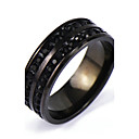 cheap Men's Rings-Men's Band Ring - Punk, Rock 6 / 7 / 8 / 9 / 10 Black For Daily Casual