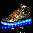 baratos Tênis Masculino-Homens Sapatos LED Couro Sintético Primavera / Outono Conforto Tênis Antiderrapante Prata / Dourado / Festas & Noite
