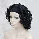 cheap Cases, Bags & Straps-new fashion 3 4 wig with headband women s short curly synthetic half wig
