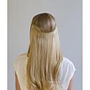 olcso Felragasztható póthajak-Flip In Human Hair Extensions Egyenes Emberi haj Közepes Aranybarna Sötét aranybarna Blonde