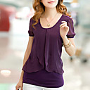 cheap Wall Stickers-Women's Plus Size Batwing Sleeve T-shirt - Solid Colored
