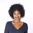 cheap One Pack Hair-Human Hair Full Lace Wig Kinky Curly Wig Natural Hairline African American Wig 100% Hand Tied Women's Short Medium Length Human Hair Lace Wig