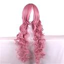 preiswerte Hundekleidung-Synthetische Perücken Wellen Rosa Synthetische Haare Rosa Perücke Damen Lang Rosa