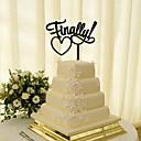 billige Bryllupsblomster-Kakepynt Klassisk Tema Klassisk Par Akryl Bryllup med Blomst 1 Gaveeske