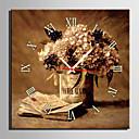 ieftine Ceasuri de Perete Canvas-Modern/Contemporan pânză Pătrat Interior,AA