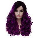cheap Costume Wigs-Synthetic Wig Synthetic Hair Purple Wig Women's Medium Length Capless